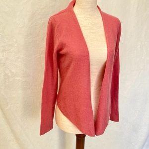 Garnet Hill Sz XS Cashmere Cardigan peachy pink